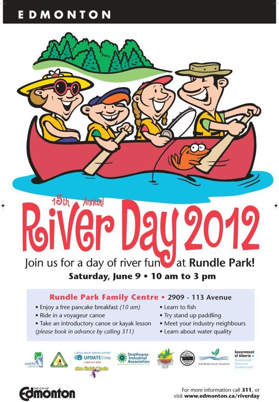 River Day June 9, 2012! http://www.edmonton.ca/riverday