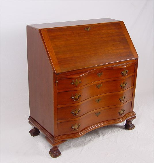 Classic Governor Winthrop Style Drop Front Desk Scandia Furniture Rockford Il Serpentine