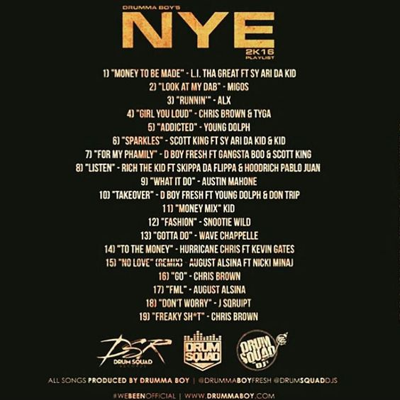 """DRUMMA BOY & the @drumsquaddjs giving you 19 more reasons why they've BEEN official. Kick off 2016 the #DrumSquad way! Get your resolution in order! """"DRUMMA BOY'S 2K16 NYE PLAYLIST"""" OUT NOW on Live Mixtapes! #DrumSquadOnThatRealShh  #PurpleTapeDJs #PTR #PTRemix #PurpleStuff #PTRAlumni #StayScrewedUp #Turntablism #SaluteTheDJ #Texas #DJ #Scratching #713LIFE #Cutting #Mixing #Turntables #Vinyl#CD #MP3#RIPDJScrew #Chopped #Screwed #ChoppedAndScrewed #ScrewstonTX #HTown #Houston #HOUnity by…"""
