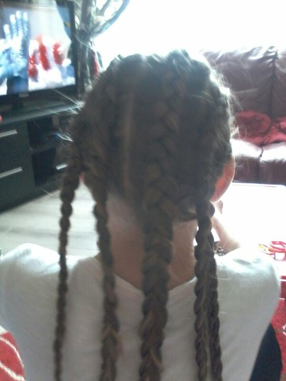 My five french braids