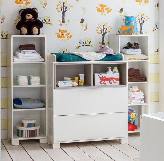 collection de mobilier bébé - commode à langer et modules en bois ...