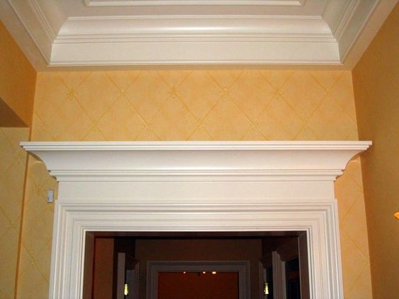 Moldings home and columns on pinterest - Decorative exterior door pediments ...