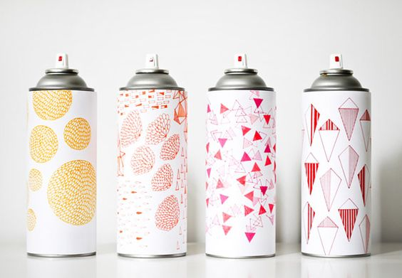 Marsha Golemac illustrated paint cans.