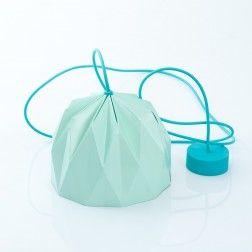 Lampada a sospensione Origami Verde Acqua