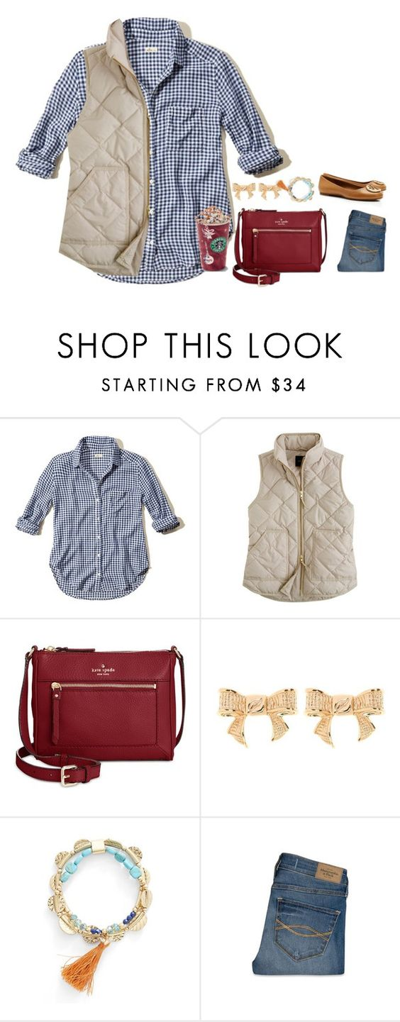 """Happy Fall......."" by mgropp ❤ liked on Polyvore featuring Hollister Co., J.Crew, Kate Spade, Ted Baker, Lonna & Lilly, Abercrombie & Fitch and Tory Burch"