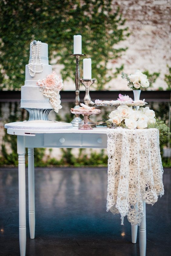 10 Unique Dessert Table Displays To Wow Your Wedding Guests Vintage Wedding Cake Table Wedding Cake Table Cake Table Decorations