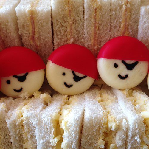 Babybel Pirates - pirate party food