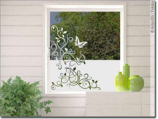 Fensterfolie Rankendekor Fensterfolie Fensterfolie Sichtschutz Dekor