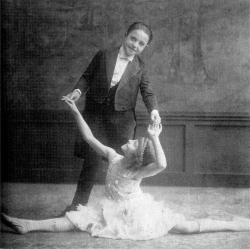 A young Gene Kelly with one of his sisters.  WHATEVER YOU ARE GOOD AT, AND LUST FOR .......   START YOUNG, AND PRACTICE YOUR ARSE OFF.