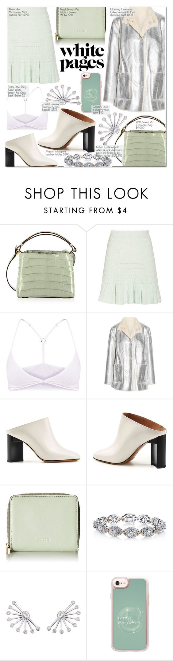"""""""Brooke"""" by nindi-wijaya ❤ liked on Polyvore featuring VBH, Alexander McQueen, Opening Ceremony, Maison Margiela, FOSSIL, Harry Kotlar and Casetify"""