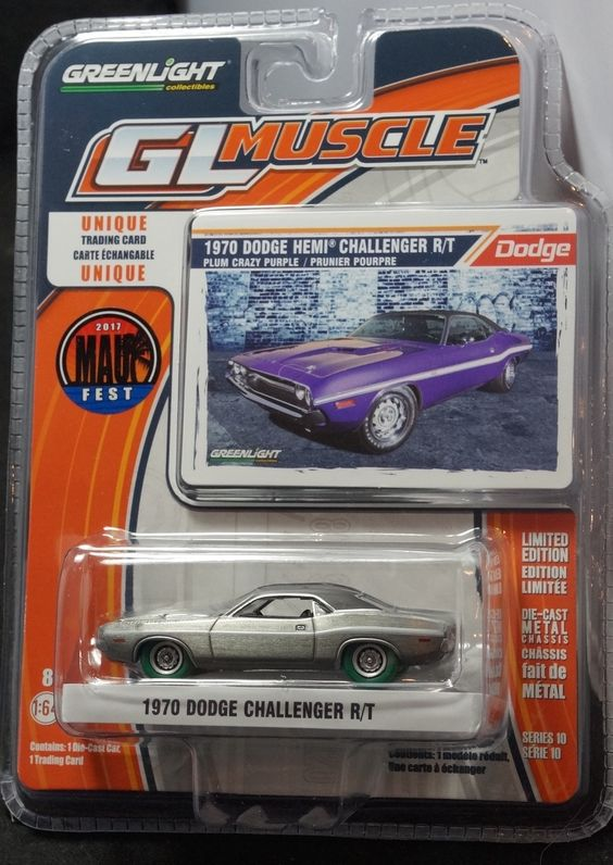 Greenlight M2 Machines Auto World Hot Wheels more Whats New In Diecast : 1970 70 Dodge Challenger R/T Raw   Green Machine C...