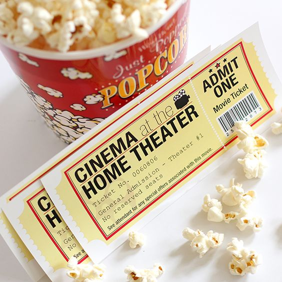 Movie night free printable tickets.: