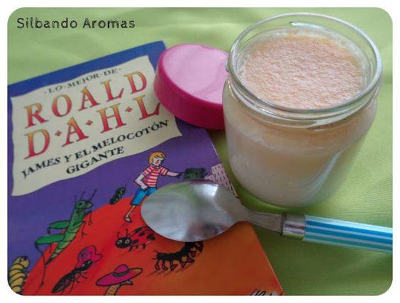 Silbando Aromas: Yogur de melocotón en almíbar