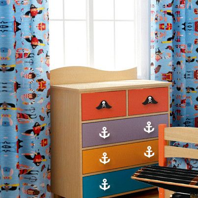 Pirate Pals Cotton Rod Pocket Curtain Panels