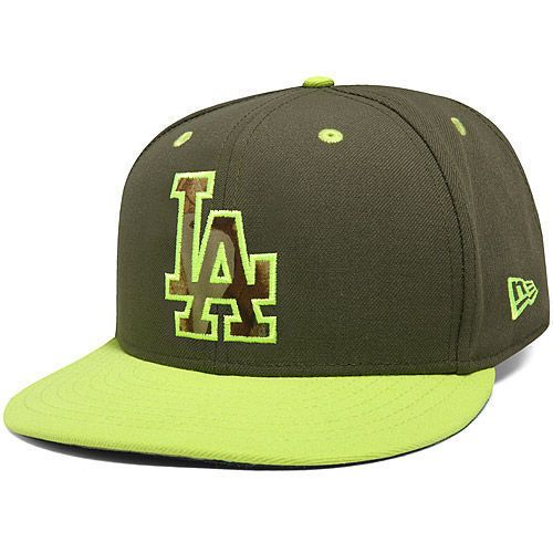 New Era L.A. Dodgers Olive/Cyber Green Real Fill 59FIFTY Fitted Hat #NewEra #712