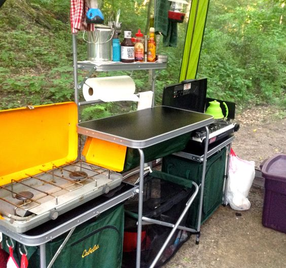 Foodgasm the blog the kitchen sink gourmet camping part for Kitchen setup ideas