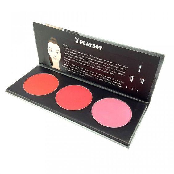 Paleta de Blush Profissional Playboy http://www.lookstore.com.br/paleta-de-blush-profissional-playboy