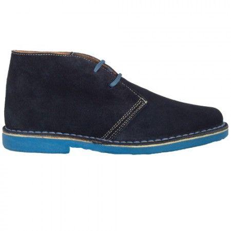 Bicolor Marineblau-Himmelblau Herren Stiefel