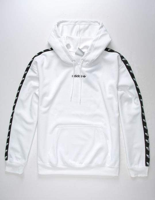 Adidas Originals Tnt Tape Mens Hoodie White 313147150 Hoodies Men Adidas Outfit Men White Adidas Outfit