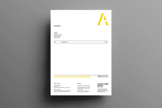 Auckland Road invoice designed by by Concrete #logo #branding - invoice logo