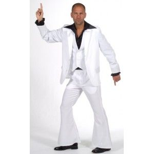Déguisement Disco Fever Deluxe Homme, Costume Disco adulte 3 Pcs, Grease, années 60-70, Magic by Freddy, fêtes.