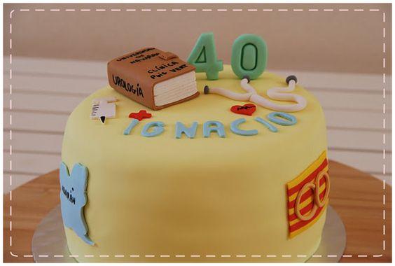tarta personalizada 40 cumpleaños