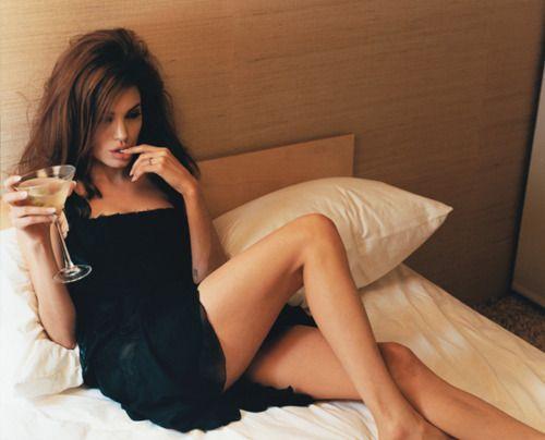 wine in bed. MMMmmmm.