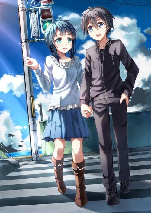 Sachi & Kirito in real life
