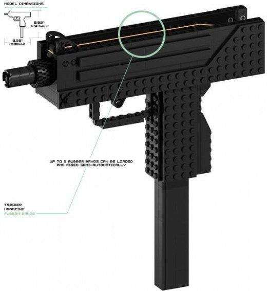 Simple to Build Lego Guns