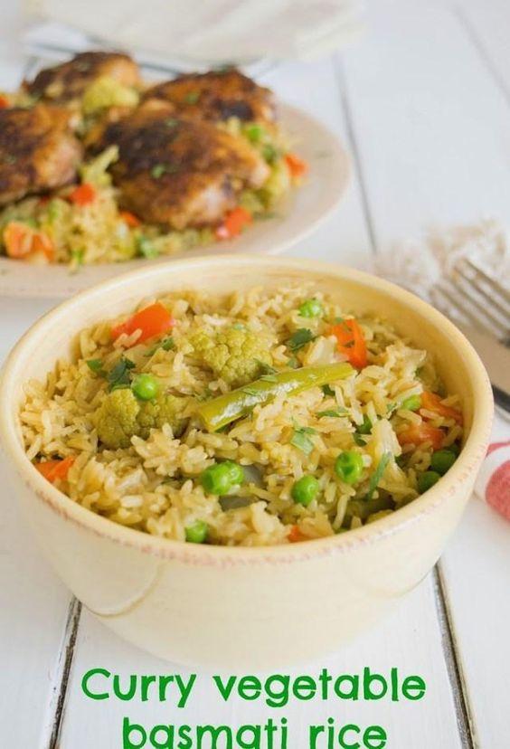 Curry vegetable basmati rice