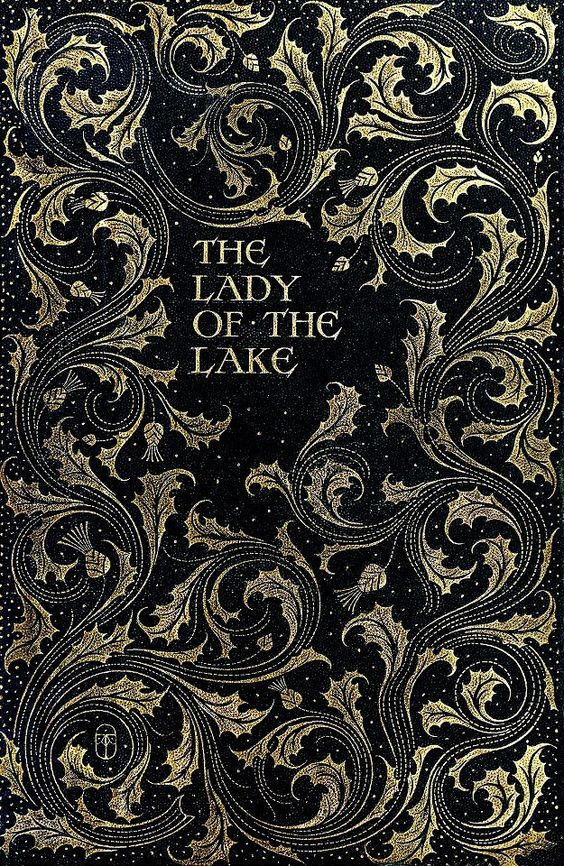 Cover from 'The Lady Of The Lake', by Walter Scott. Illustrated by Charles Edmund Brock.1904.: