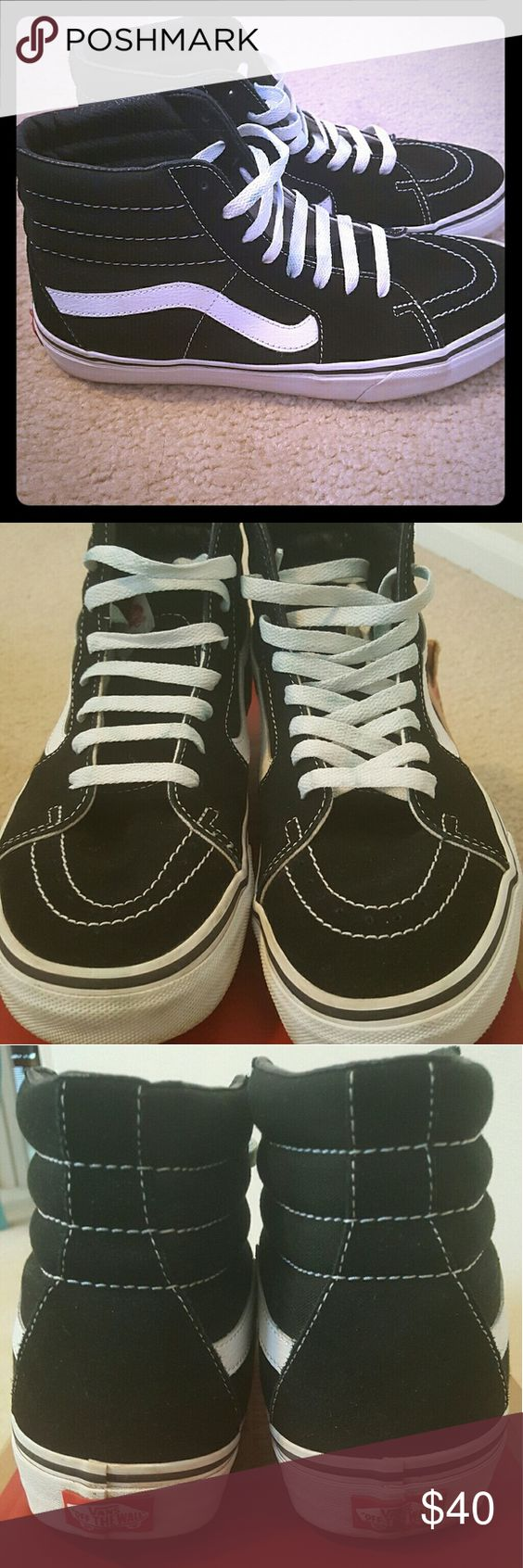 Vans Black and White Off the Wall Vans. Classics. Mens Size 8 ...