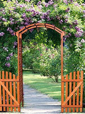 Der Rosenbogen wurde aus hochwertigem XX-Holz hergestellt, sorgfältig und aufwendig geschliffen und danach mehrfach imprägniert. Das Rankgitter sowie der Bogen sind dadurch ganzjährig perfekt geschützt und auch langfristig witterungsbeständig. BEZAUBERNDE DEKORATION – Egal ob mit Kletterpflanzen wie z. B. Rosen, Weinreben, Efeu, Brombeere oder aber auch ganz ohne Pflanzendeko – der hölzerne Durchgang wird das Highlight und ein Eyecatcher in jedem Garten sein!... *Pin enthält Werbelink