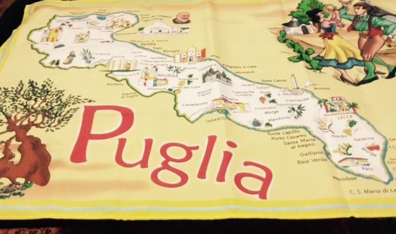 Tea towel about Puglia
