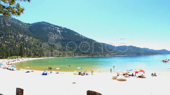 Sand Harbor Beach Lake Tahoe - Stock Footage | by Iam2012escapee