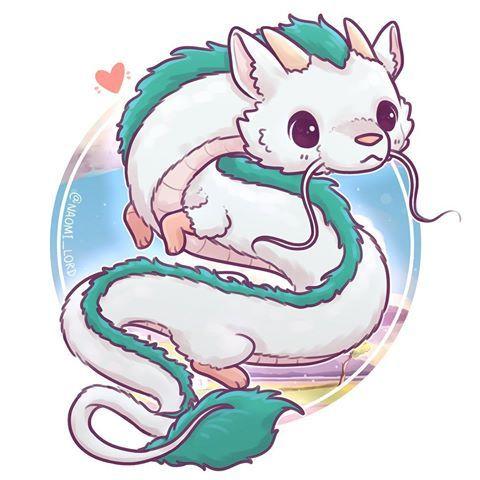 Haku Spirited Away Cute Animal Drawings Cute Kawaii Drawings Cute Kawaii Animals