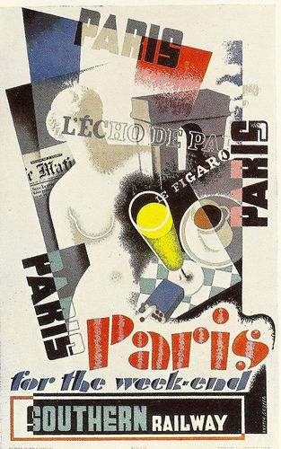 "By Austin Cooper, c 1 9 3 5, Southern Railway poster, ""Paris for the week-end""."