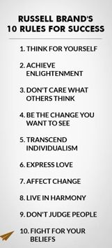 10 Rules for success: Russell Brand