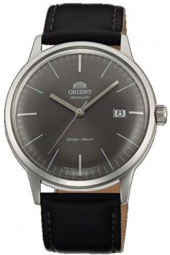 Orient Classic Bambino Grey Japan Automatic Gent's Leather Elegant Watch