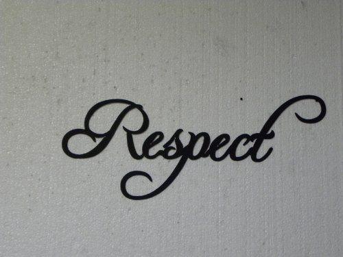 Respect Motivational Word Fancy Script Metal Wall Art ...