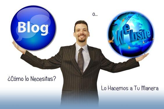 ¿Necesitas un Blog o una Página Web? - Lo hacemos a tu manera