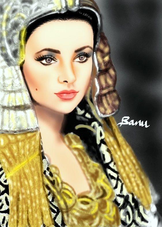 Elizabeth Taylor Digital Drawing Photo And Video Drawings