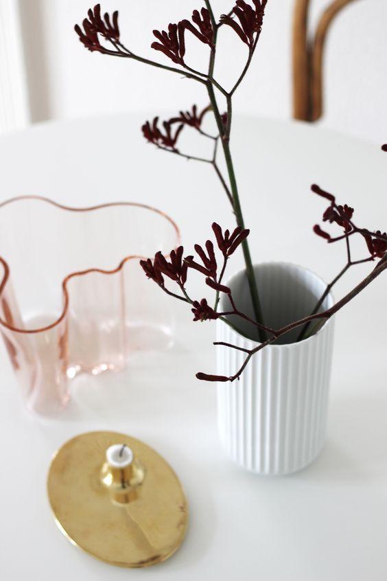 scandinavian interior design, scandinavian dining spot, alvar alto, lyngby vase, georg jensen, via http://www.scandinavianlovesong.com/
