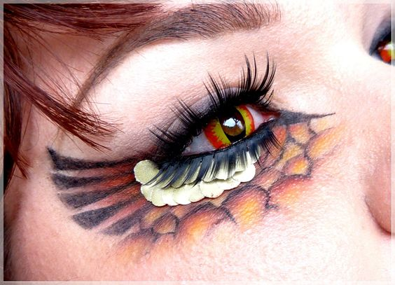dragon eye make up