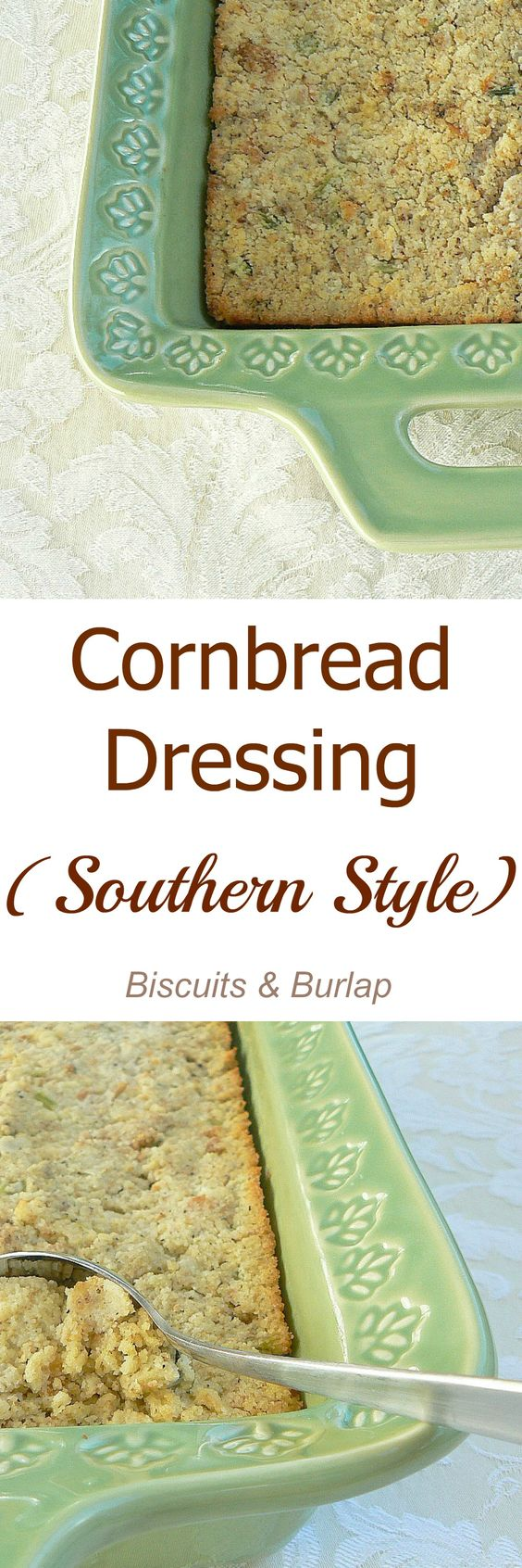 Traditional Southern Style Cornbread Dressing. It's easy - I promise!