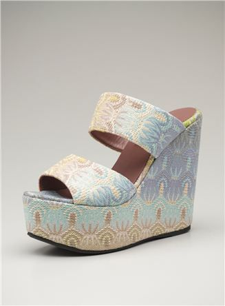 Missoni High Patterned 2 Band Wedge discounted on loehmanns.com