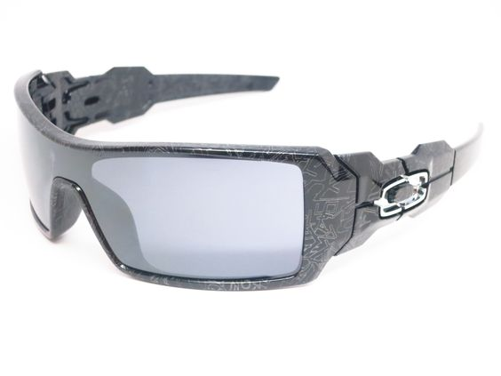 oakley oil rig sunglasses polished black  oakley oo0024 058 oil rig polished black sunglasses