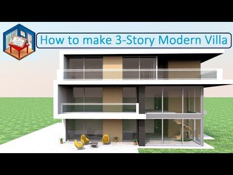3 Story Modern Villa Model Making In Sweet Home 3d Youtube Building Design Model Making Modern