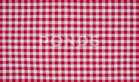 Red And White Checkered Tablecloth Stock Photo 24607475 With
