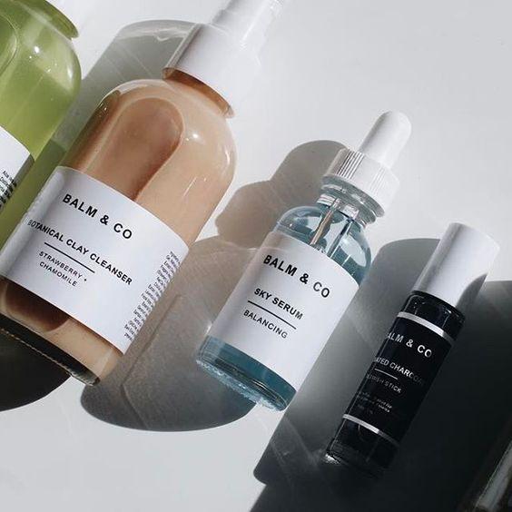 skincare packaging label design